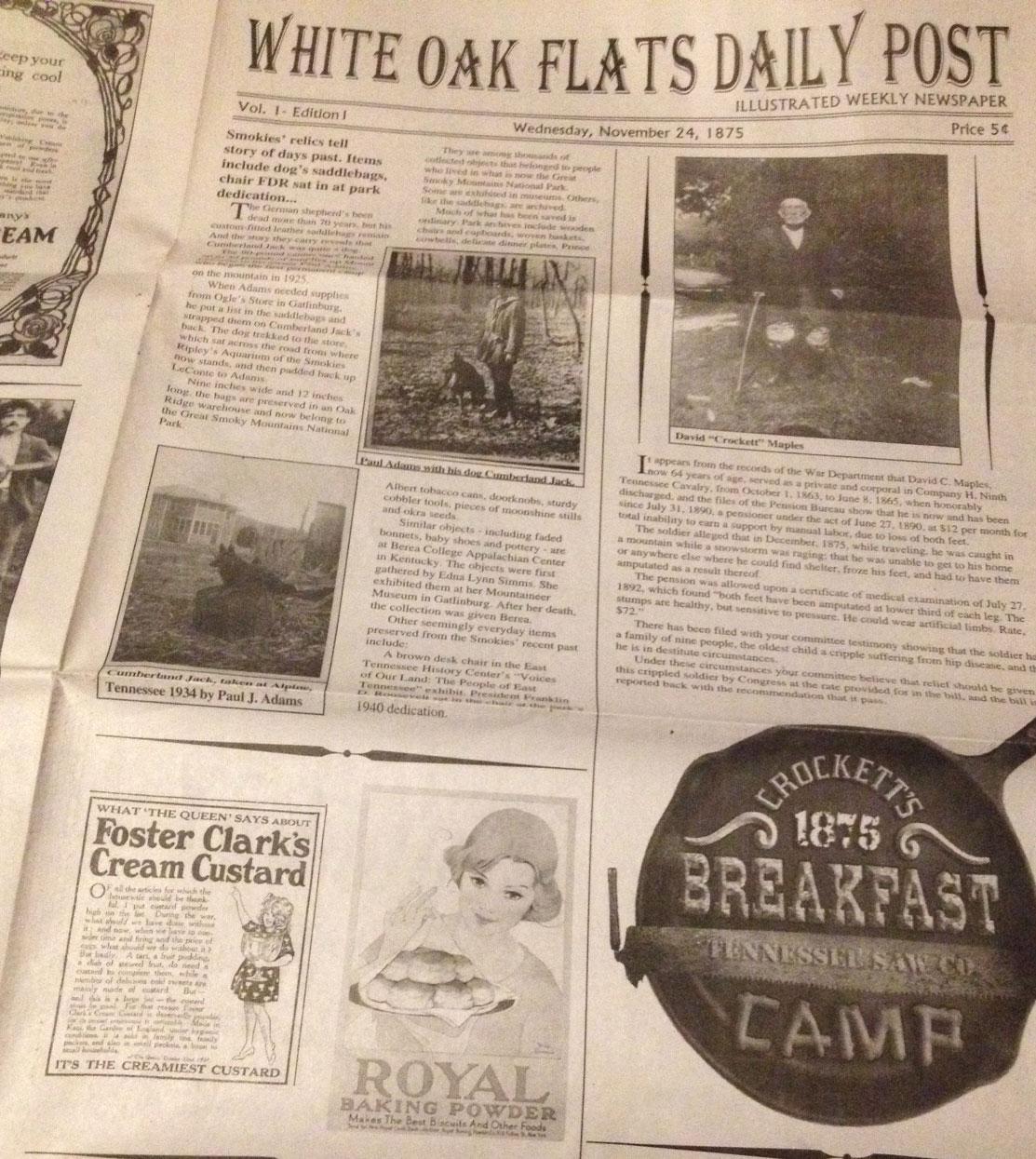 Crockett's Breakfast Camp