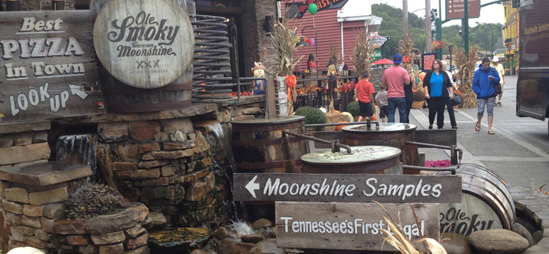 Moonshine proeven in Gatlinburg Ole Smoky Moonshine