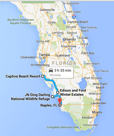Van Siesta Key naar Naples in Florida