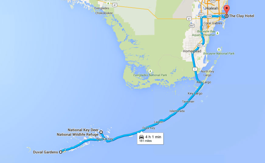 rondreis Amerika route van Key West naar Miami