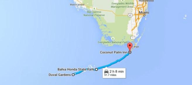 route_Florida_key_Keylargo_keywest