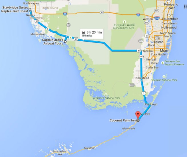 Van Naples naar de Florida Keys