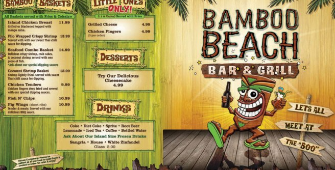 Bamboo Beach Bar & Grill in John's Pass Village Florida