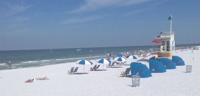 Clearwater Beach strand in Florida